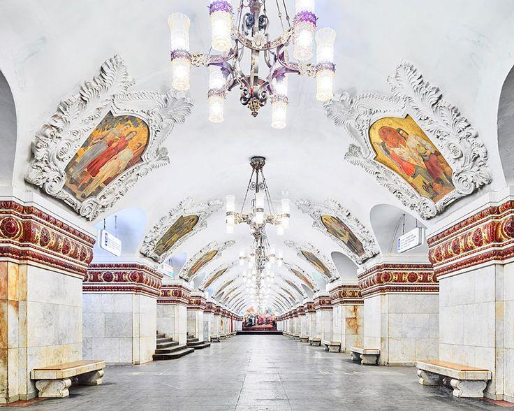 Kiyevsskaya Station, Moscow  moscow-metro-station-architecture-russia-bright-future-david-burdeny-10