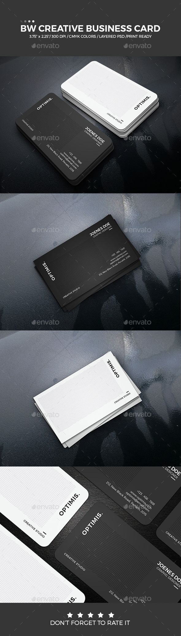 BW Creative Business Card black, blue, business card, clean, color, colorful, colour, colourful, corporate, creative, design, designer, elegant, green, mono, name card, pattern, pink, print, professional, simple, stylish, template, unique, white, best business card