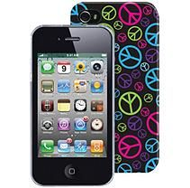 The Macbeth Collection PC Case for iPhone 4/4s - Neon Peace
