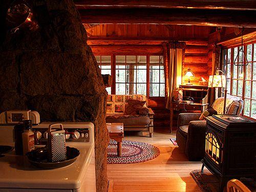 cabin summer cottage living room home decor interior design - Cabin Living Room Decor