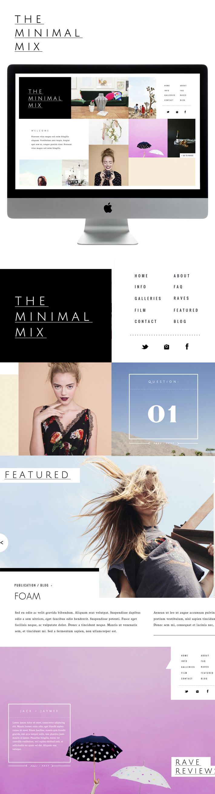 Minimal Mix | Sitehouse Designs by Liz Grant #webdesign