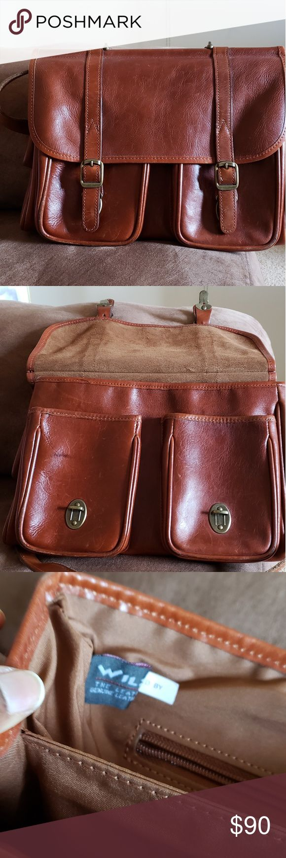 Wilson leather messenger bag Wilsons leather bag