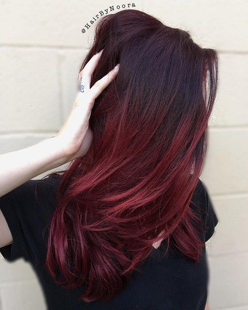 ... Red Ombre on Pinterest | Fall red hair, Copper hair dye and Red