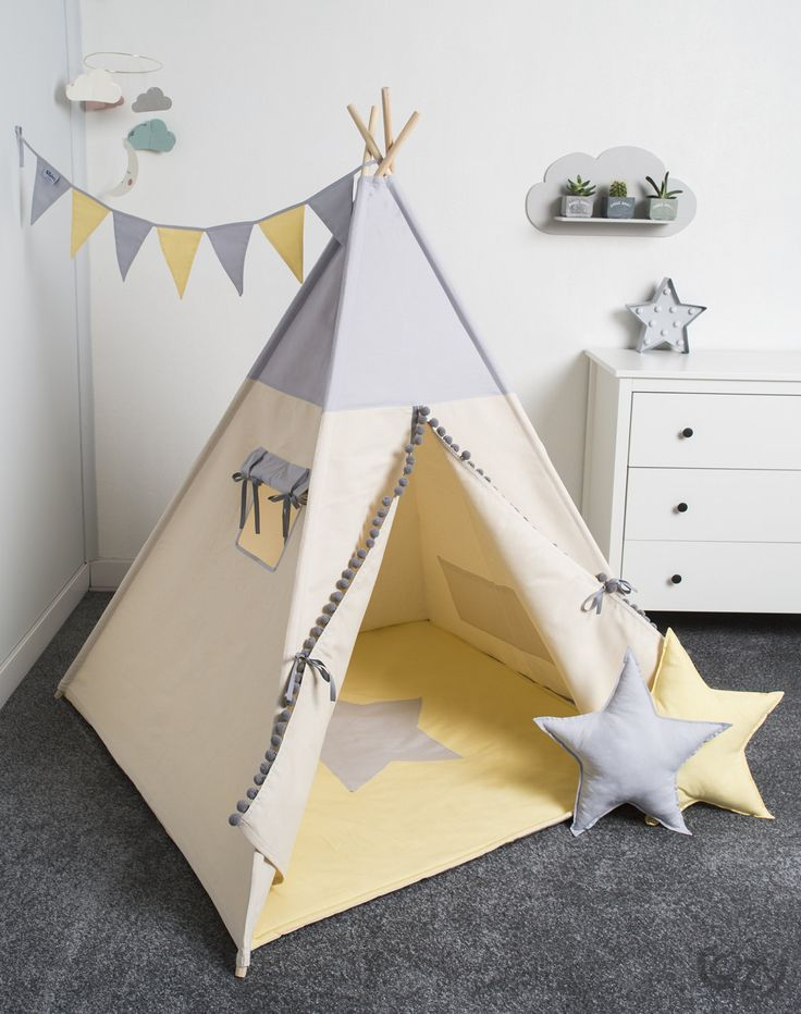 Indian Teepee, Kids Play Tent, Tipi, Tente Indienne, Tente De Teepee, Tents  Pour Enfant, Set 6 Elements Indian Sunlight