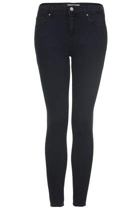 MOTO Blue Black Wash Leigh Jeans