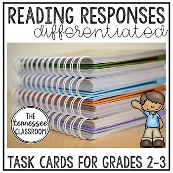 3 levels of reading response cards for 2nd and 3rd grade! Easy to prep and get students responding to reading!