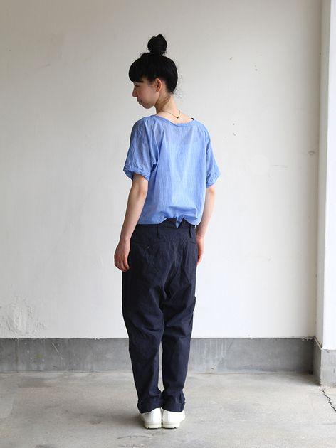 Big T-shirt 2~yarn dyed fine lawn cotton 4