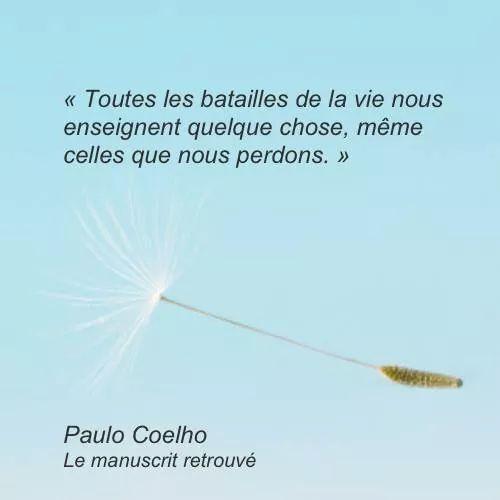 Inspirational Quote: Toutes les batailles de la vie nous enseignent quelque chose même celles que n