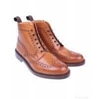 Loake Men's Bedale Brogue Boots - Tan - Men's Boots - Men's Footwear - MEN | Country Attire