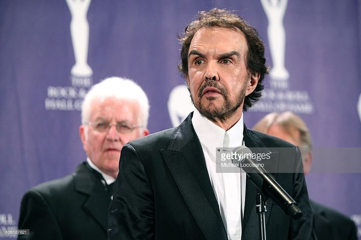 Inductees Lenny Davidson and Dave Clark of The Dave Clark Five in the press room at the 2008 Rock and Roll Hall of Fame Induction Ceremony at The Waldorf-Astoria Hotel on March 10, 2008 in New York City.