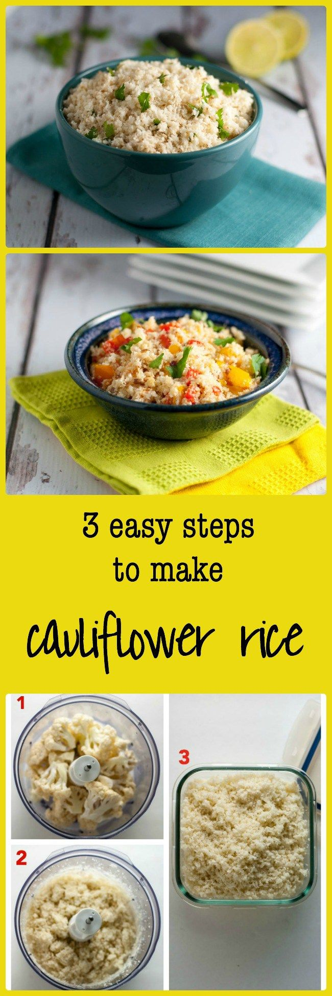 How to Make Cauliflower Rice. Here is a low-carb alternative to regular rice. You won't believe just how good it is until you try it! 3 easy steps. Click the image to find suggestions for different ways to serve it.