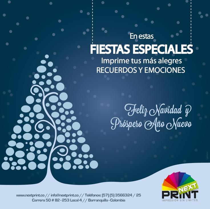 Diseño de Tarjeta de Navidad NextPrint - Diciembre de 2012 - Barranquilla, Colombia - Diseñadas por Lemon | Agencia de Medios y Publicidad. www.agencialemon.com — en Barranquilla- Atlantico, Colombia.