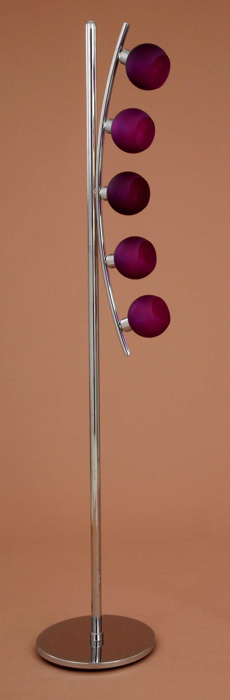 #Lampara pie de salón media luna metalizado con 5 #tulipas de #cristal  https://novaluz.es/es/pie-de-salon/11-lampara-pie-de-salon-media-luna-metalizado-con-5-tulipas-de-cristal.html  Lámpara pie de salón media luna metalizado con 5 tulipas de cristal.  #Portalamparas E-14 para bombillas de rosca pequeña tanto de bajo consumo como #led. Pensada para dar un toque de #elegancia y distincíon en tu #salon o #recibidor