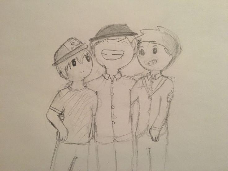 I drew three different Patricks! #fall out boy