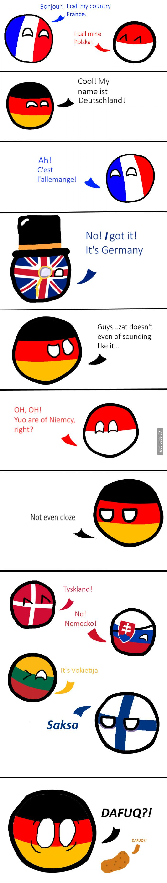 Germany and its names...
