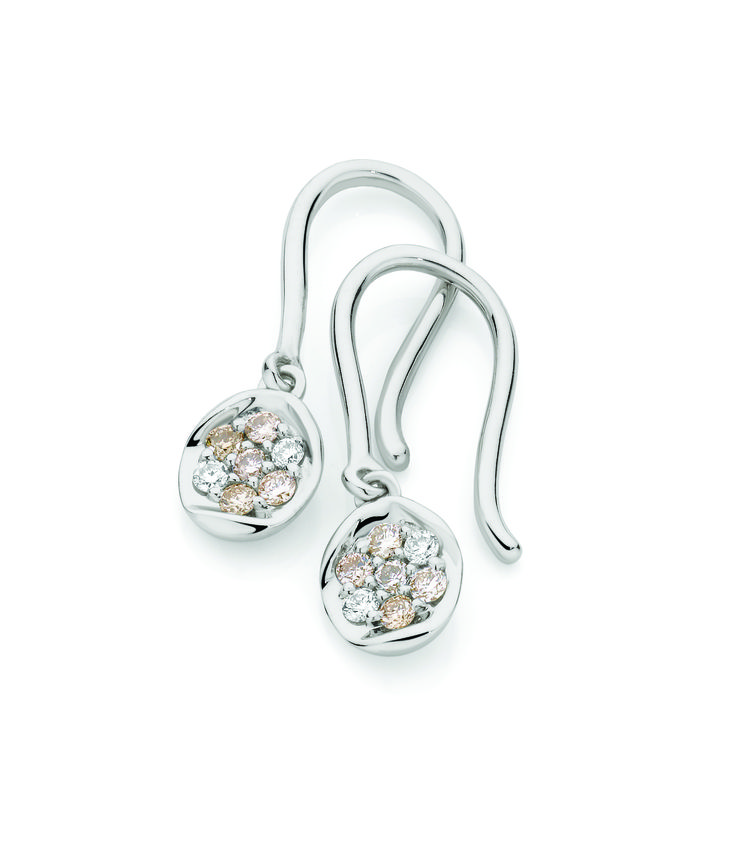 9ct White Gold 0.20ct Oval Diamond Earrings by Dreamtime - exclusive to Showcase Jewellers