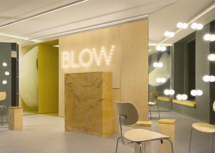 BLOW hair salon by STUDIO David Thulstrup, Copenhagen - Denmark