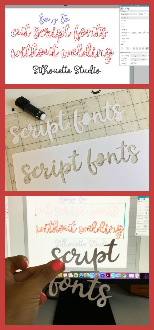 How to cut script fonts with Silhouette CAMEO without welding