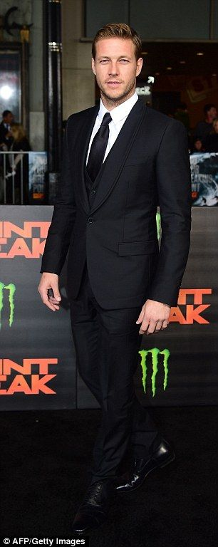 Dashing: Teresa's co-star and fellow Australian actor Luke Bracey looked handsome as he posed for snaps