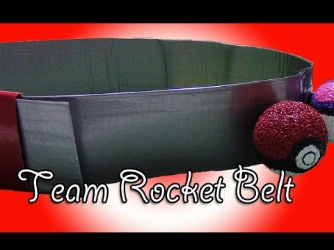 Learn how to make a team rocket belt from duct tape. Simple, fast, and works easily.