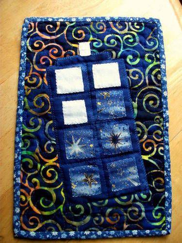 Tardis mug rug! I really need a mug rug....or several. especially doctor who themed ones! ;)