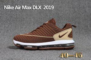 0021ace517f Mens Nike Air Max DLX 2019 Running Shoes Brown Creamy White 849559 ...