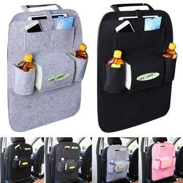 Universal Car Seat Back Multi-Pocket Hanging Holder Storage Bag Tidy Organizer Storage Shelves  Bins