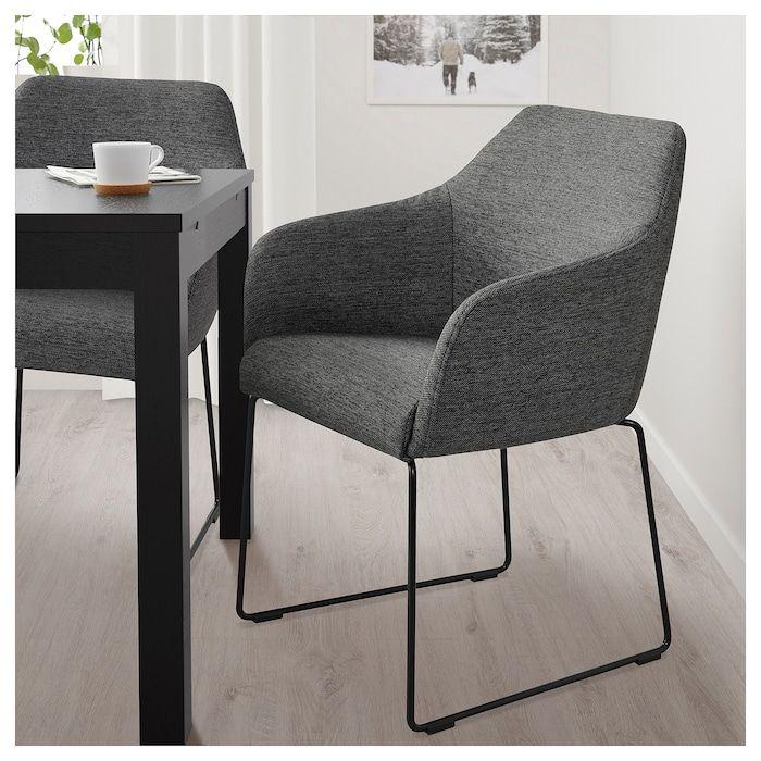 Tossberg Eetkamerstoel Metaal Zwart Grijs Ikea Metal Chairs Upholstered Dining Chairs Upholstered Chairs