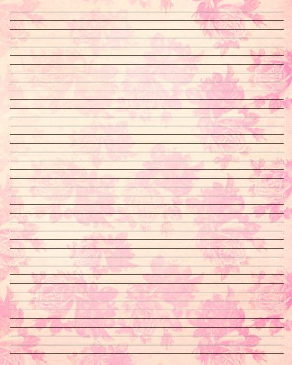 69 best Printable Letter Writing Papers images on Pinterest - lined letter writing paper