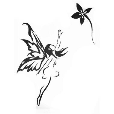 Tatouage fée qui atteint la fleur