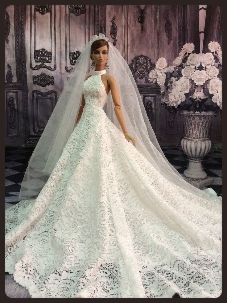 "PKPP-730 Tyler Tonner  FR16 Princess Wedding Lace Gown dress outfit dolls 16"". Exquisite!"