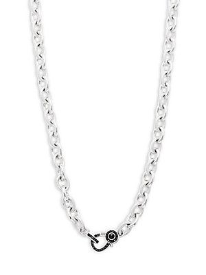 Judith Ripka Mercer Black Sapphire, Black Onyx & Sterling Silver Wrap Necklace