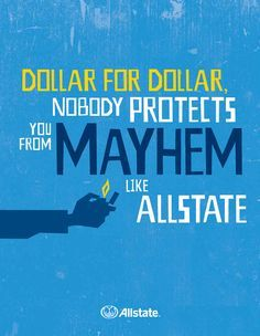 Allstate Mayhem on Pinterest | Mayhem Allstate, Dean Winters and ...
