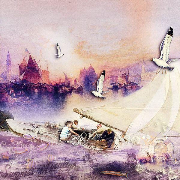 Summer Moonlight by Valentina's Creations