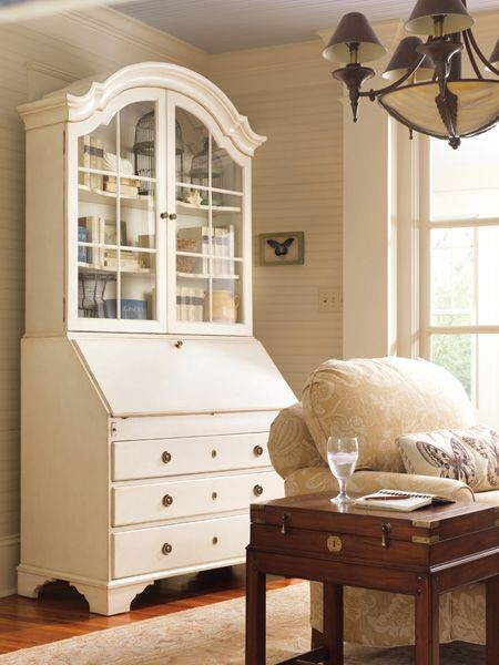 Monterey Bureau Bookcase | Somerset Bay #somersetbay #interiors #homedecor #design #interiorhomescapes #interiorhomescapes.com