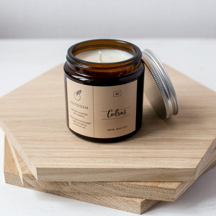 SOYOOSH Świeca Cedrus 120 ml / #ladnerzeczy #targirzeczyladnych #ladnerzeczydziejasiewinternecie #polishdesign #design #candle