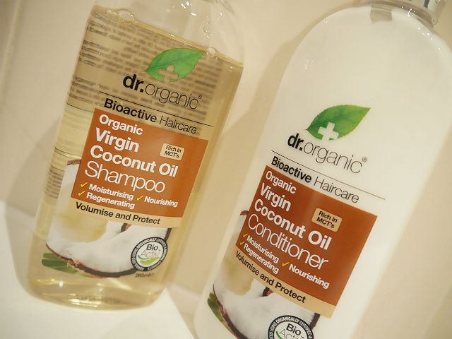 Gemma Means Jewel: Dr Organic Virgin Coconut Oil Shampoo & Conditioner