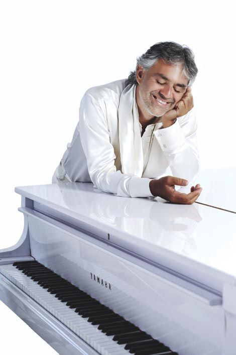 Andrea Bocelli plays the piano, and  flute, rides horses, plays golf, and chess, despite he is blind ..all with a rare voice that seems to come from nowhere.