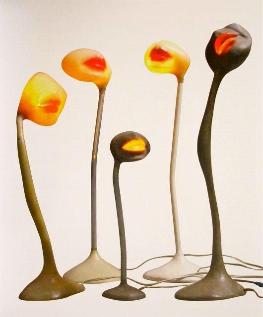 "Alina Szapocznikow ""Lampe – Bouche"" (Illuminated Lips) 1966"