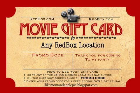 BEST PARTY FAVOR IDEA!! Gift cert for a REDBOX movie  rental! Brillant right?!?photo CinemaTicket_GiftCard_Template_LMAAP_zps6facf638.jpg