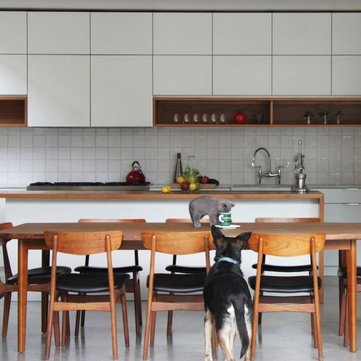 Cantilever Interiors Kitchen featuring a mid-century table setting | cantileverinteriors.com