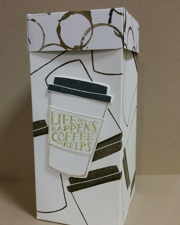 Custom-ordered gift box using the Coffee Cafe bundle from Stampin' Up!