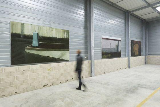 lejandro Campins, Series - Les Moulins (Sainte-Marie), 2015, oil on canvas, 190 x 310 cm each. Galleria Continua Les Moulins, 2015. Photo by Oak Taylor-Smith