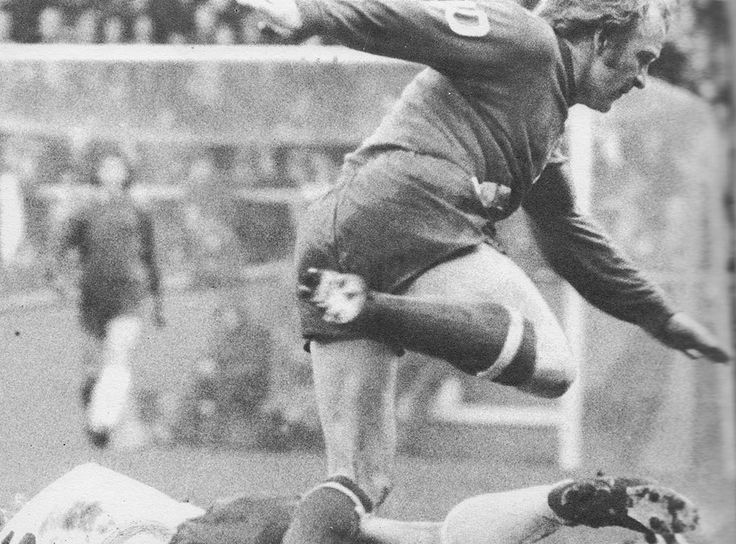10th February 1973. Manchester City attacker Francis Lee in action against Tottenham Hotspur, at White Hart Lane.