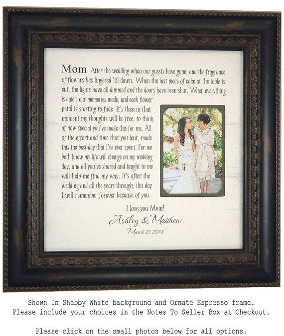 Wedding Gift for Parents Mother of the by PhotoFrameOriginals