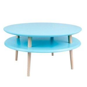 Konferenční stolek UFO Ø 70 cm, modrý