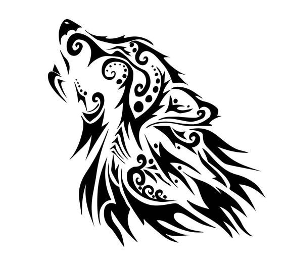 Check Out This Item In My Etsy Shop Https Www Etsy Com Listing 762424061 Vector Print Svg The Wolf Wolf Silhouette Wolf Black And White Geometric Wolf Tattoo