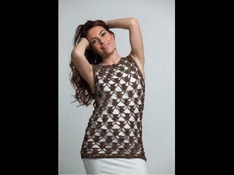 Blusa Elba tejido a ganchillo fácil y rápido - tejiendo con Laura Cepeda - YouTube