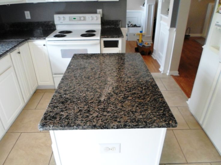 Caledonia Granite 4 12 13 Countertops Installed In Charlotte NC 60 40 Sink Wellington Faucet Half Bullnose Edge White Kitchen Cabinets