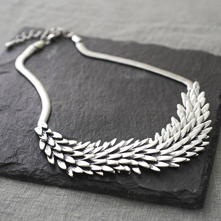 Metal Feather Necklace from notonthehighstreet.com